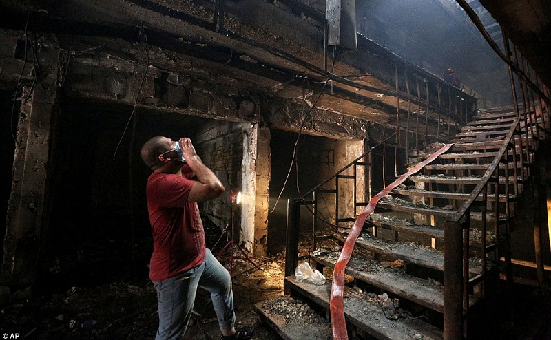 Rescuers have been looking for survivors in the burnt out shell of the shopping centre. Dramatic pictures show how fire ripped through the building.