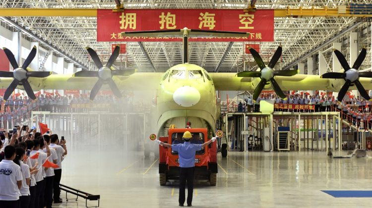China launches world's largest seaplane