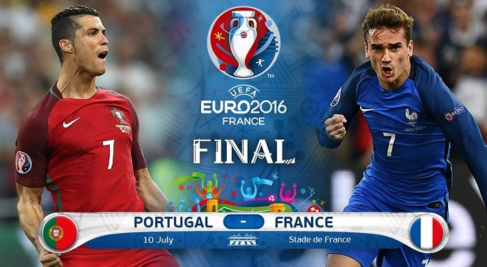 Euro 2016 hosts France meet Portugal in the tournament's finale on Sunday night.