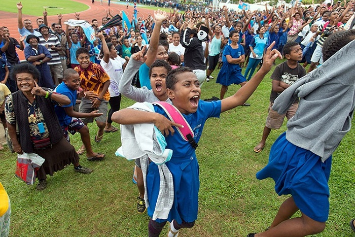 On Aug. 11, Fijians celebrated in stadiums, erupted into cheers at bars and in their homes, and eventually took to the streets, waving Fijian flags and jumping for joy.