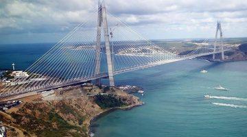 The third Bosphorus bridge linking the European and Asian sides of Istanbul, Turkey.