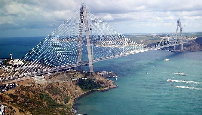 The third Bosphorus bridge linking the European and Asian sides of Istanbul, Turkey.