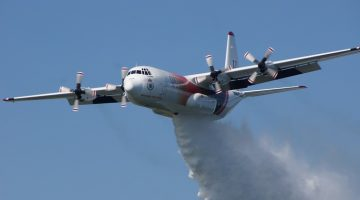 Thor aircraft returns to Sydney to hammer fires from sky