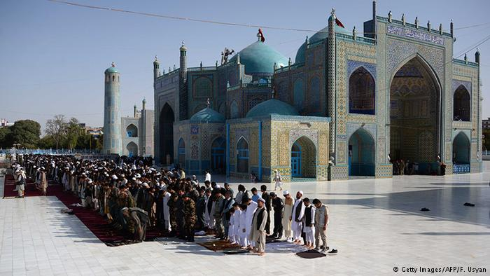 Afghans pray in Mazar-i Sharif on Eid al Adha