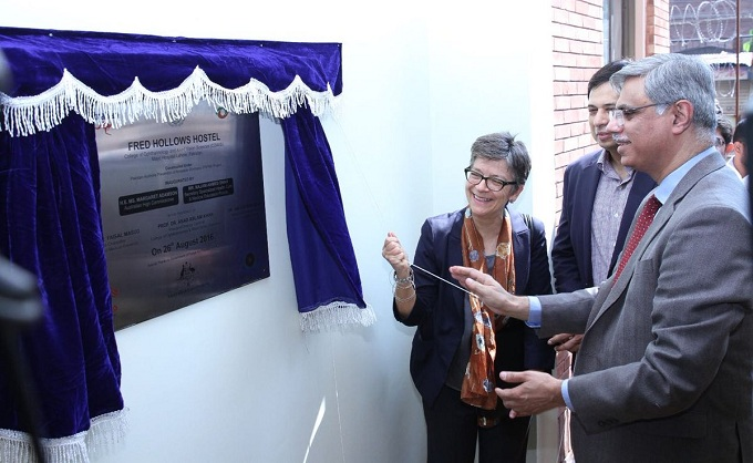Australian High Commissioner Ms. Margaret Adamson, inaugurates the new women hostel for King Edward Medical University students