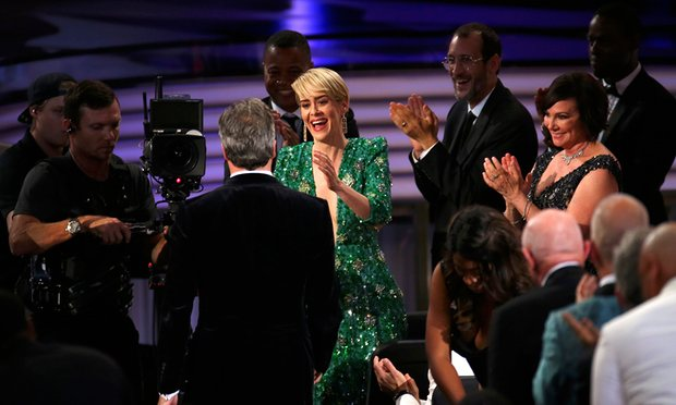 Sarah Paulson at the 68th Emmy Awards in Los Angeles