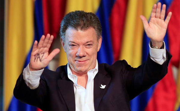 Nobel Peace Prize awarded to Colombia's President