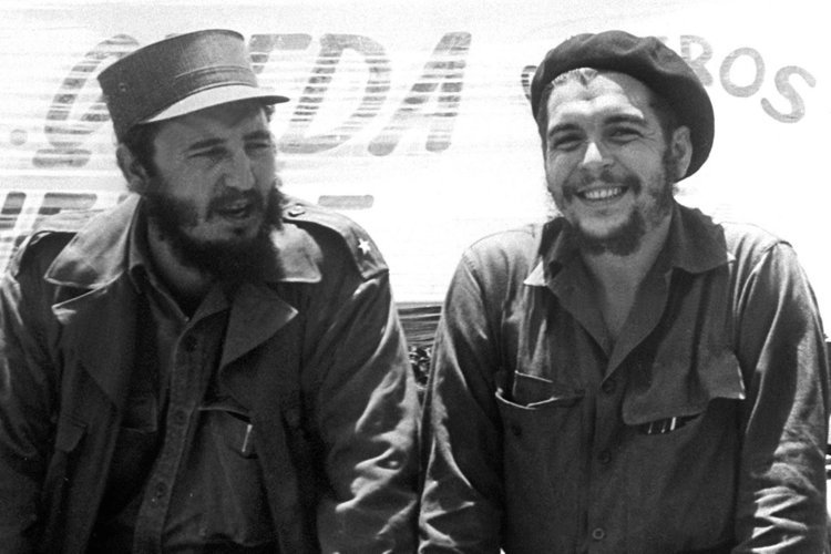 Memorable photograph of Cuban Revolutionary leader Fidel Castro and the legendary guerrilla Ernesto Che Guevara