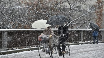 Tokyo receives 'first snow' in November for first time in 54 years