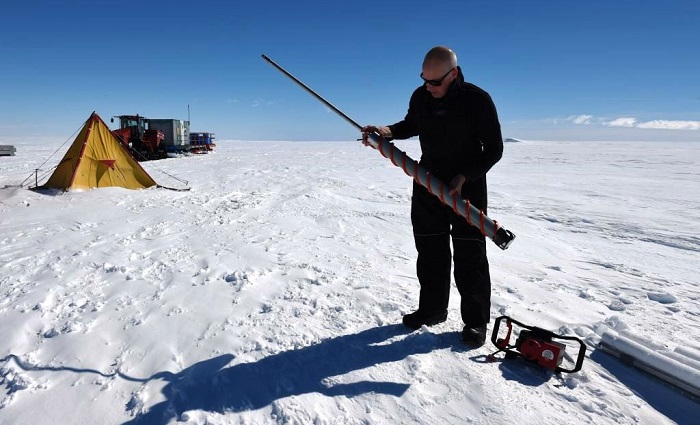 Australian Antarctic Division's Dr Tas van Ommen is part of an international effort to find a million year ice core in Antarctica. (Photo: Chris Crearer)