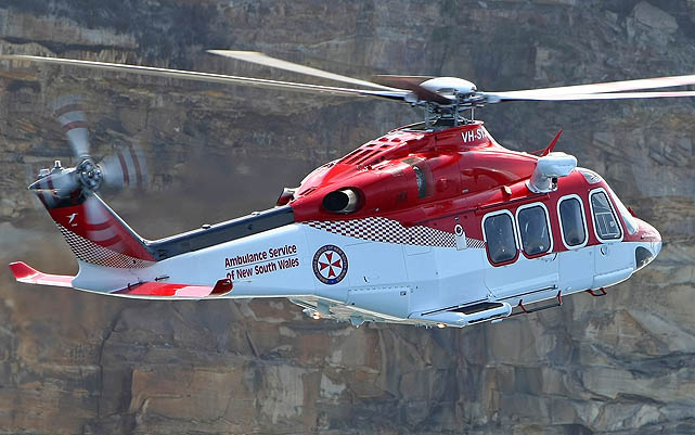 The AW139 will be standard across all NSW's aeromedical helicopter fleet under the new contract. (Paul Sadler)