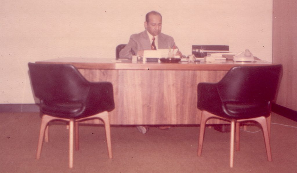 Commander Kunhi first PIA Manager in Sydney in 1970
