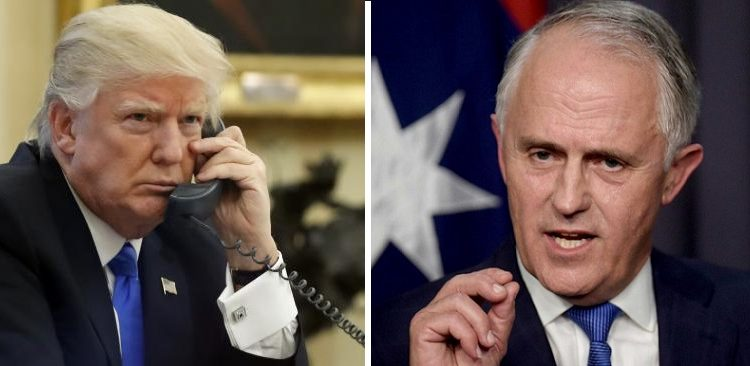 US President Donald Trump slammed Australian PM Malcolm Turnbull over refugee deal