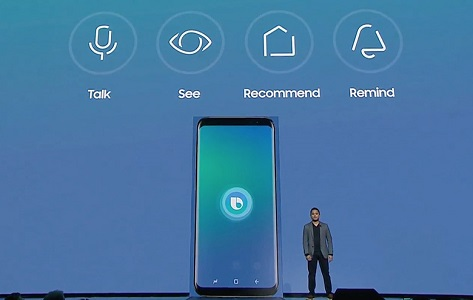 Galaxy S8 sports its own voice assistant called Bixby.