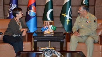 Mrs Margaret Anne Adamson, High Commissioner Australia, called on General Zubair Mahmood Hayat, Chairman Joint Chiefs of Staff Committee (CJSC) at Joint Staff Headquarters, Rawalpindi on April 26, 2017