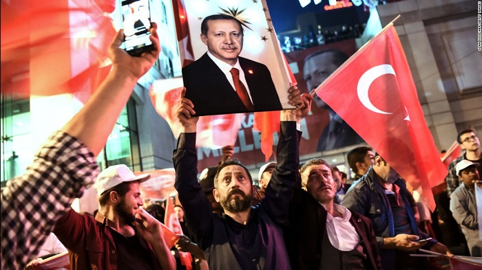 Turkey's Erdogan declares victory in Referendum