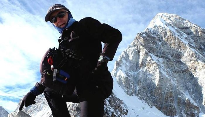 Queenslander Francesco Enrico Marchetti climbing Kala Pathar in Khumbu, Nepal. Facebook photo: Francesco Marchetti