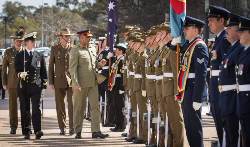 Pakistan Army Chief Qamar Javed Bajwa in Australia