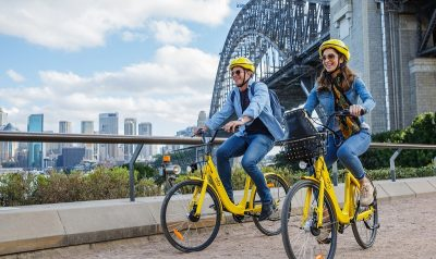 Ofo, which operates 10 million bikes in 180 cities worldwide, is launching in Sydney on Wednesday. Photograph: Ofo