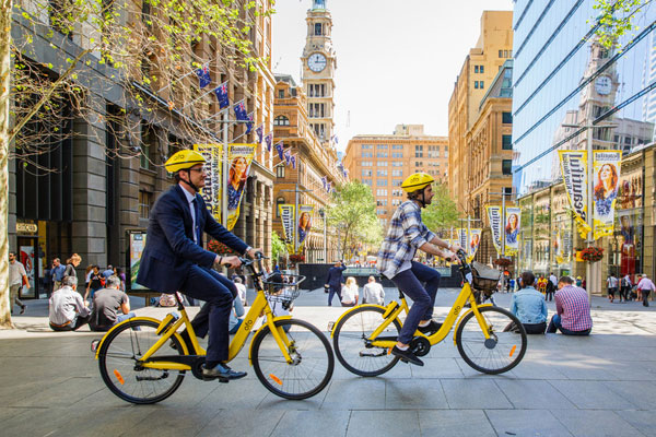 Sydney welcomes hundreds of Ofo bikes
