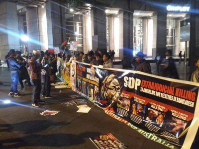 Demonstration against Hasina Wazed Image 2