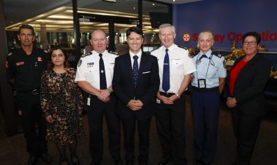 Victor Mominello with Sydney Ambulance Centre Staff