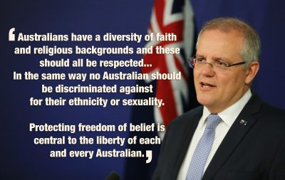 PM Morrison Religious freedom quote