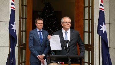 PM Morrison and AG Christian Porter