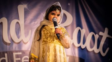 5 years old Sarina Hassan on stage - a youngest MC