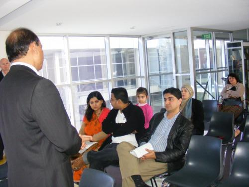 Conducting a lecture on events