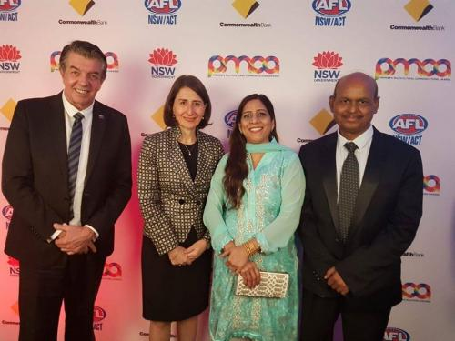 Premier NSW, Minister Multiculturlism NSW, Syed Atiq ul Hassan and Surraya Hassan